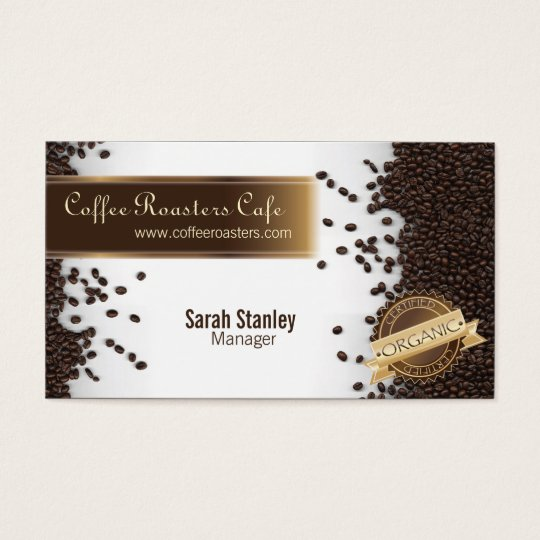 Organic Coffee House Cafe Restaurant Business Card