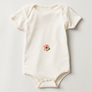 Organic Cotton Baby Girl Onsie Flower Bodysuit