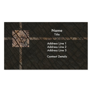Organic Cracked Bark Texture Pack Of Standard Business Cards