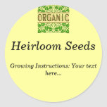 Organic Custom Seed Packet Stickers