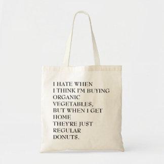 Organic donuts Totes Budget Tote Bag