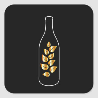 Organic Drink Square Sticker