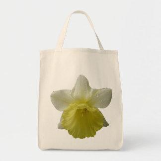 Organic Dripping Daffodil Grocery Tote Bag