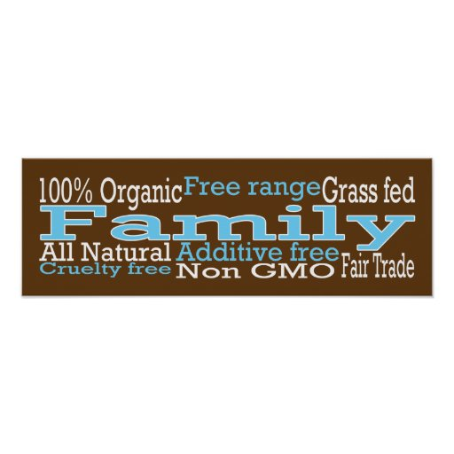 Organic Family Poster