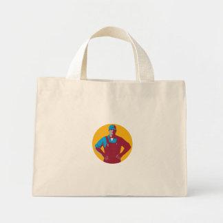 Organic Farmer Overalls Akimbo Circle Retro Mini Tote Bag