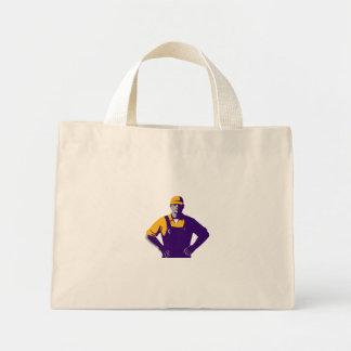 Organic Farmer Overalls Akimbo Retro Mini Tote Bag