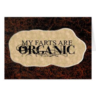 ORGANIC FARTS GREETING CARD