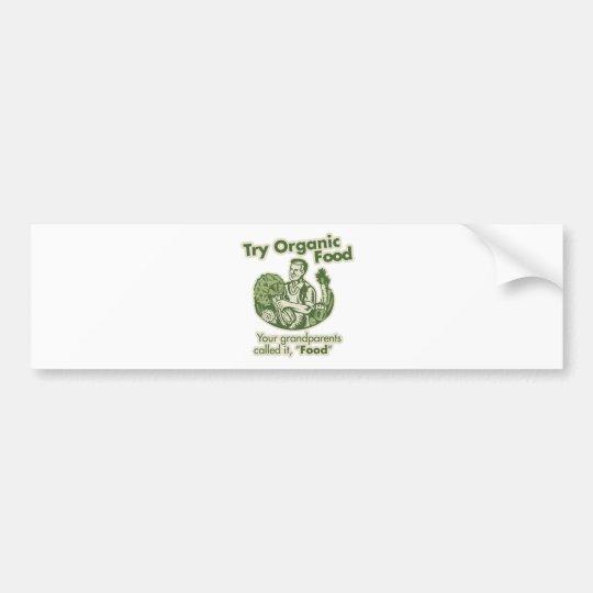 Organic Food Bumper Sticker