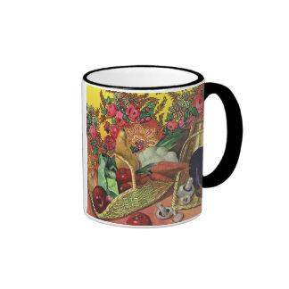 Organic Food, Garden Vegetables, Blooming Flowers Ringer Mug