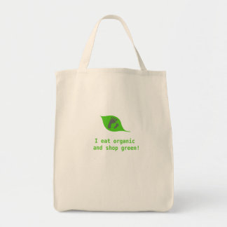 Organic food goes hand in hand with green shopping canvas bags