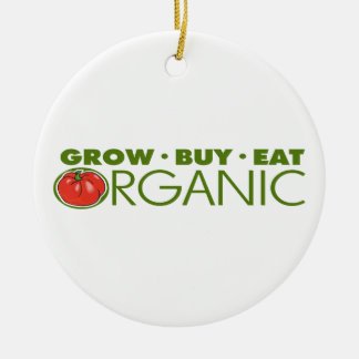 Organic Food Round Ceramic Decoration