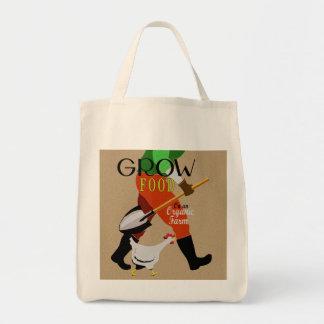 Organic Garden Grocery Tote Bag