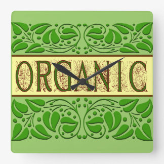 Organic Green Saying Wall Clock