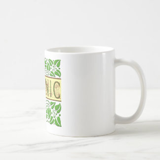 Organic Green Slogan Basic White Mug