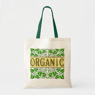 Organic Green Slogan Tote Bag
