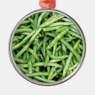 Organic Green Snap Beans Veggie Vegitarian Christmas Ornament