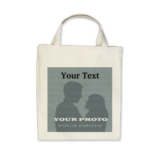 Organic Grocery Tote Your Photo Text Template Bags