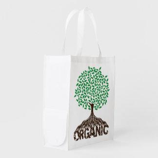 Organic Grown Tree Reusable Canvas Bag Reusable Grocery Bag