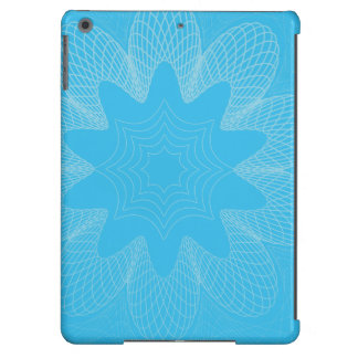 Organic Guilloche Flower blues Case For iPad Air
