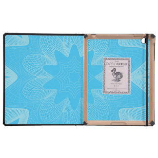 Organic Guilloche Flower blues Cases For iPad