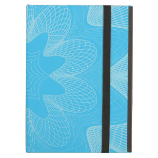 Organic Guilloche Flower blues iPad Air Cases