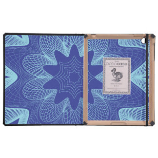 Organic Guilloche Flower blues purple Cases For iPad