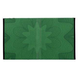 Organic Guilloche Flower greens iPad Folio Covers