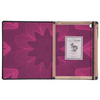 Organic Guilloche Flower magenta iPad Case