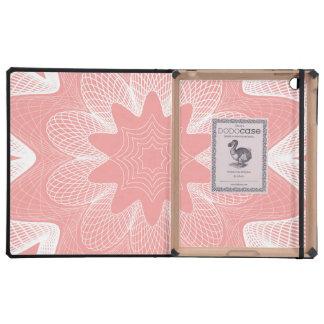 Organic Guilloche Flower pink iPad Folio Case