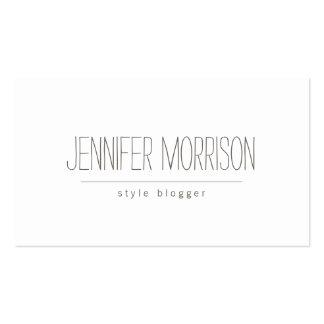 Organic Hand-Written Blogger's Business Card