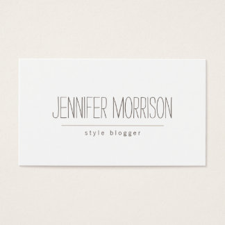 Organic Hand-Written Blogger's Business Card