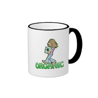 ORGANIC hippie with organic food Coffee Mugs