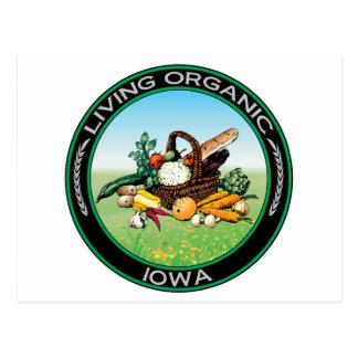 Organic Iowa Postcard