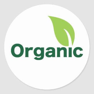 organic leaf  small sticker