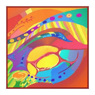 Organic Life Scan or Cellular Light - Blood Canvas Print