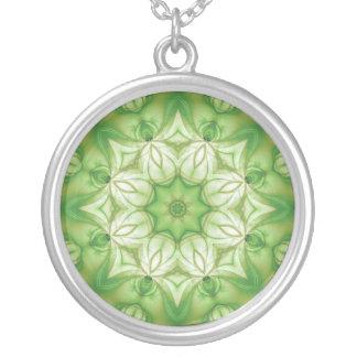 Organic Mandala / Organiskt mandala Silver Plated Necklace