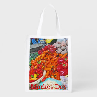 Organic Market - Foodie Heaven - Chiles & More Reusable Grocery Bag