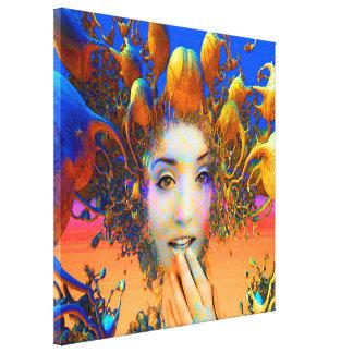 Organic Medusa Stretched Canvas Prints