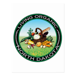 Organic North Dakota Postcard