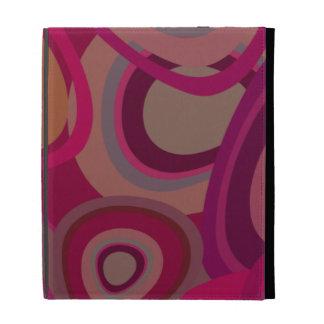 Organic pink iPad folio cases