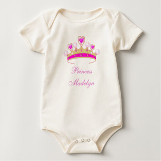 Organic Princess Madelyn, Crown Baby Tee, Add Name Baby Bodysuit