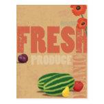 Organic Produce Postcard