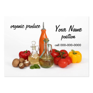 organic produce store market business card