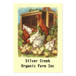 Organic Product Tags chickens eggs Farmers market Business Card Template
