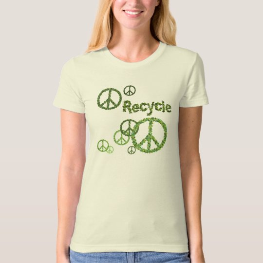 Organic Recycle Symbol Womens T-Shirt