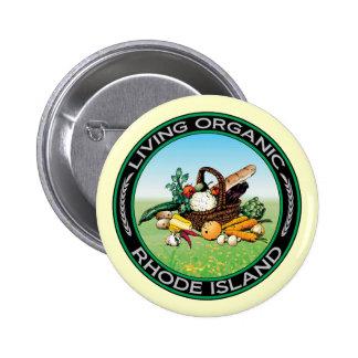 Organic Rhode Island 6 Cm Round Badge