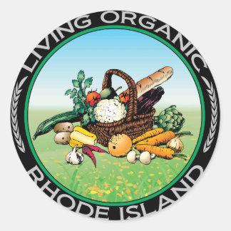 Organic Rhode Island Round Sticker