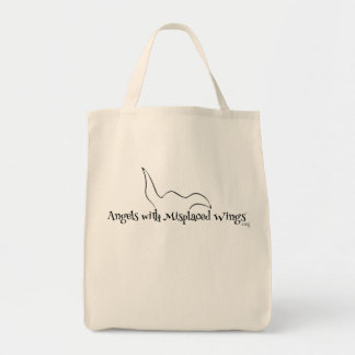 Organic Shopping Tote: Angels with Misplaced Wings