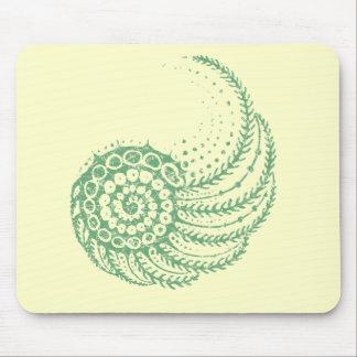 Organic spiral green mousepads