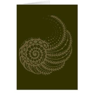 Organic spiral tan card